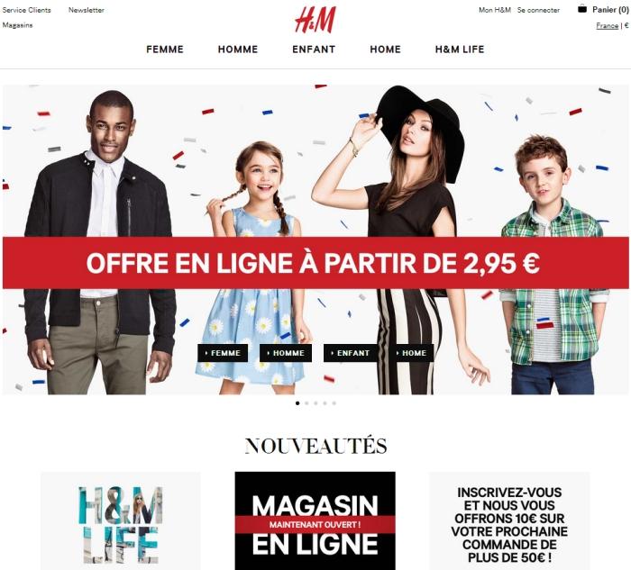 Website H&M, thương hiệu thời trang hàng đầu