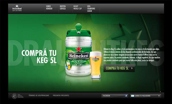Website Heneken thương hiệu bia hàng đầu thế giới