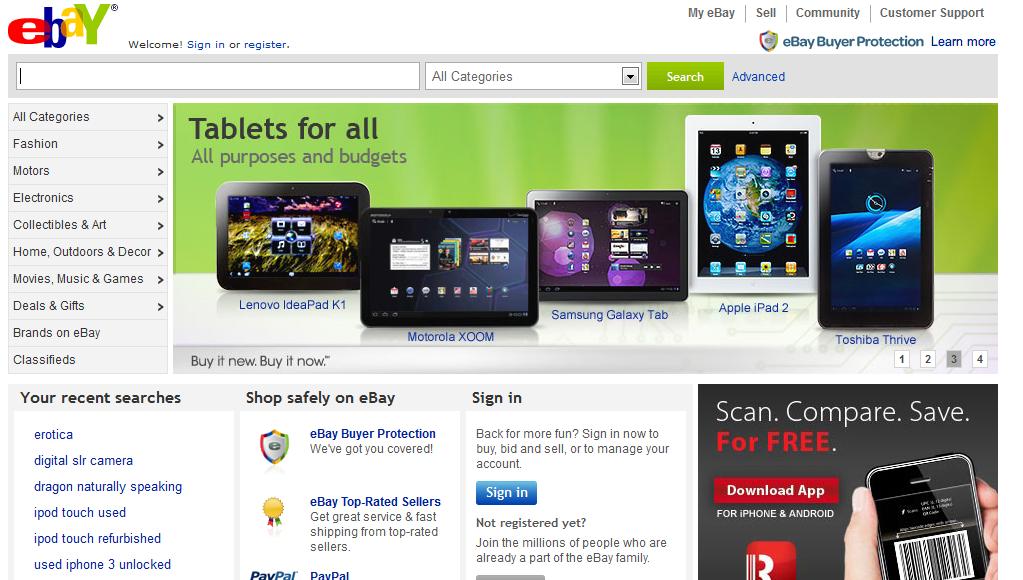 website thương mại điện tử Ebay