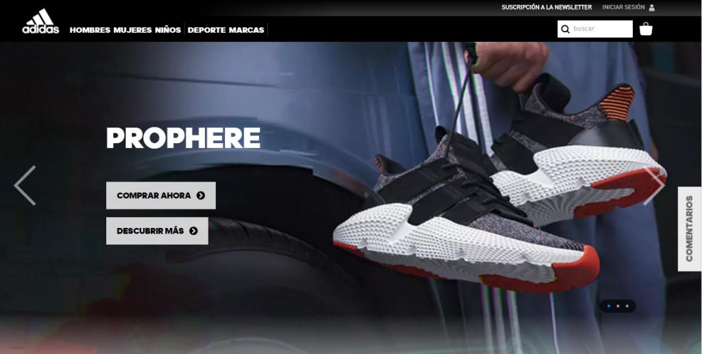 Website Adidas thương hiệu thể thao nổi tiếng thế giới