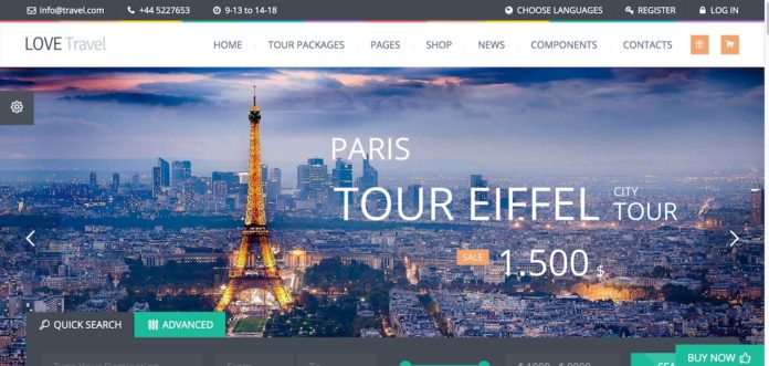 Love Travel-Top 15 website du lịch WordPress đẹp 2018