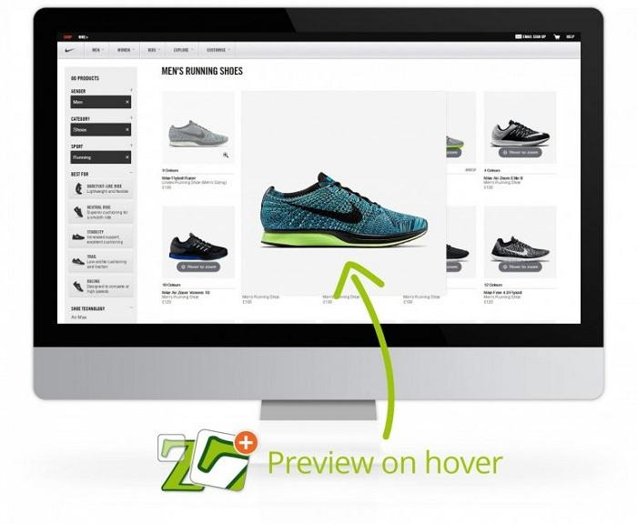 Magic Zoom cho phép khách hàng phóng to hình ảnh
