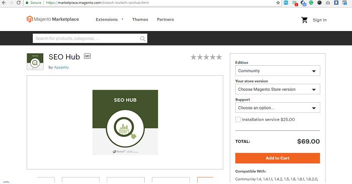 SEO Hub là một trong những tiện ích mở rộng SEO lớn nhất cho Magento