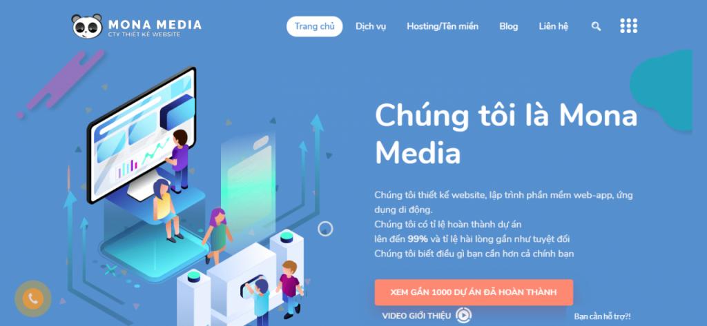 Thiết kế website bán hàng theo yêu cầu chất lượng tại Mona Media