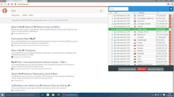 Thay đổi thiết lập Proxy trênOpera